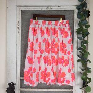 Lane Bryant Neon Floral Skirt Size 14/16  (DD7)